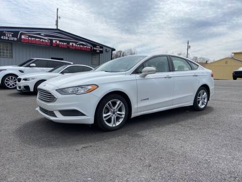 2018 Ford Fusion Hybrid for sale at Sisson Pre-Owned in Uniontown PA