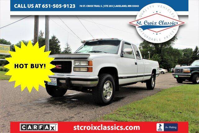1994 GMC Sierra 1500 for sale at St. Croix Classics in Lakeland MN