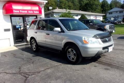 2003 Honda Pilot for sale at Dave Franek Automotive in Wantage NJ