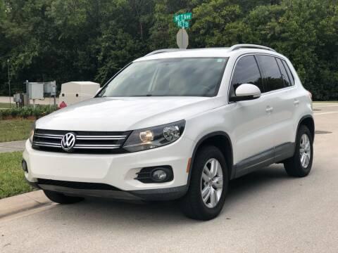 2012 Volkswagen Tiguan for sale at L G AUTO SALES in Boynton Beach FL