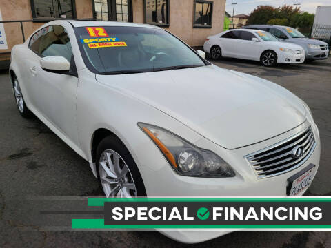 2012 Infiniti G37 Coupe for sale at Super Cars Sales Inc #1 - Super Auto Sales Inc #2 in Modesto CA