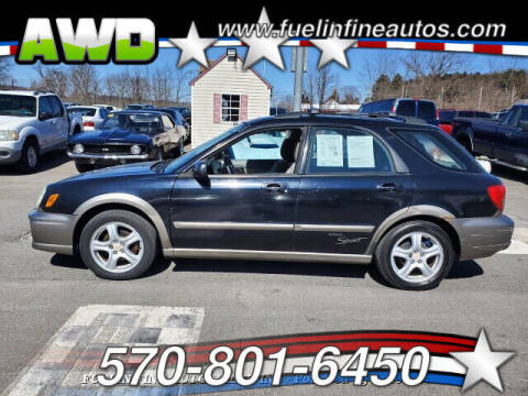 2002 Subaru Impreza for sale at FUELIN FINE AUTO SALES INC in Saylorsburg PA