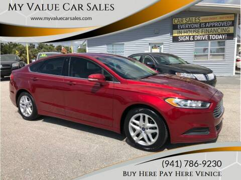 2016 Ford Fusion for sale at My Value Car Sales - Upcoming Cars in Venice FL