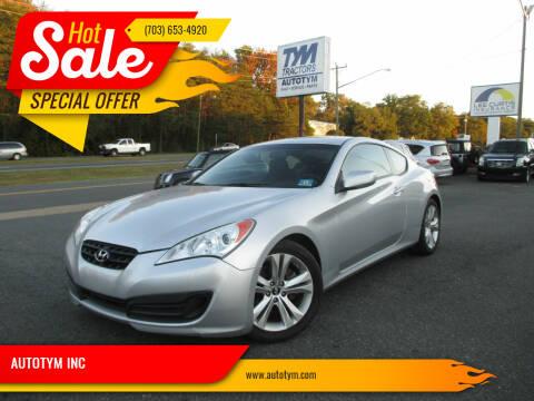 2011 Hyundai Genesis Coupe for sale at AUTOTYM INC in Fredericksburg VA