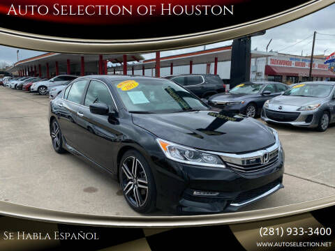 2017 Honda Accord for sale at Auto Selection of Houston in Houston TX