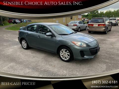 2012 Mazda MAZDA3 for sale at Sensible Choice Auto Sales, Inc. in Longwood FL