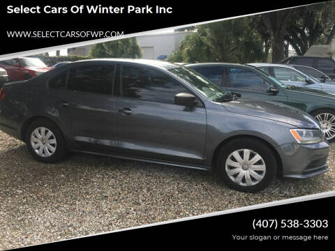 2016 Volkswagen Jetta for sale at Select Cars Of Winter Park Inc in Orlando FL