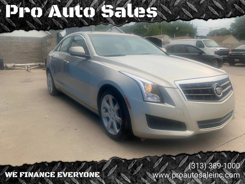 2013 Cadillac ATS for sale at Pro Auto Sales in Lincoln Park MI