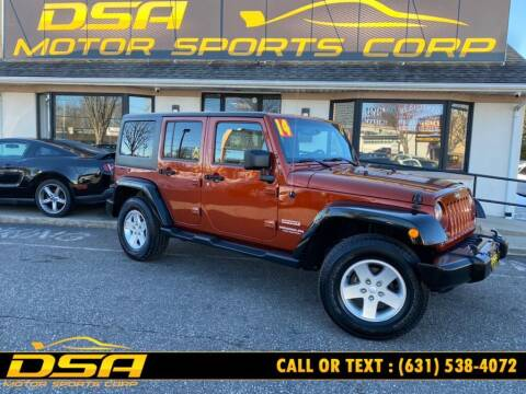 2014 Jeep Wrangler Unlimited for sale at DSA Motor Sports Corp in Commack NY