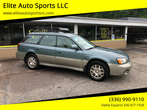 2001 Subaru Outback for sale at Elite Auto Sports LLC in Wilkesboro NC