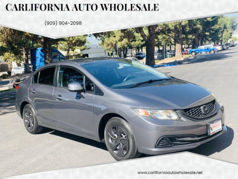 2013 Honda Civic for sale at CARLIFORNIA AUTO WHOLESALE in San Bernardino CA