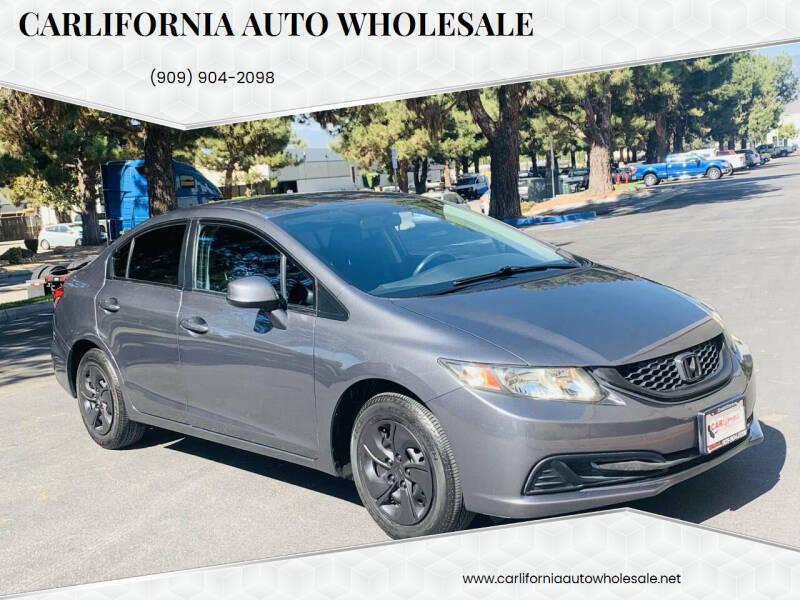 2013 Honda Civic for sale at CARLIFORNIA AUTO WHOLESALE in San Bernardino CA