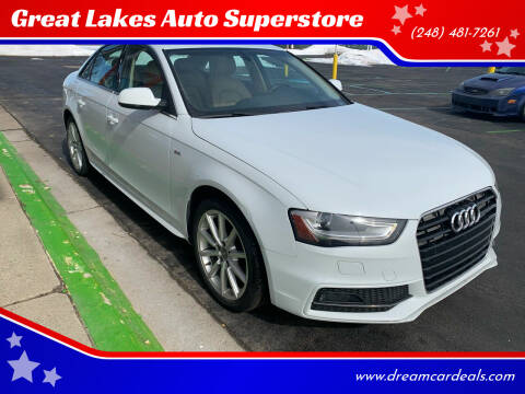 2016 Audi A4 for sale at Great Lakes Auto Superstore in Pontiac MI