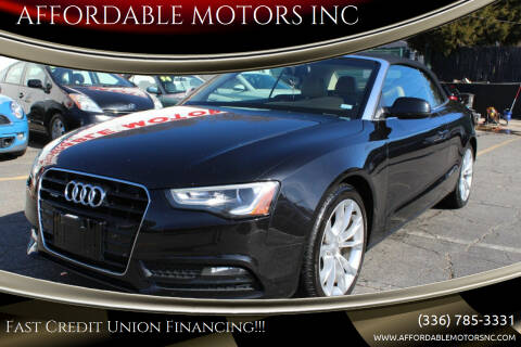2013 Audi A5 for sale at AFFORDABLE MOTORS INC in Winston Salem NC