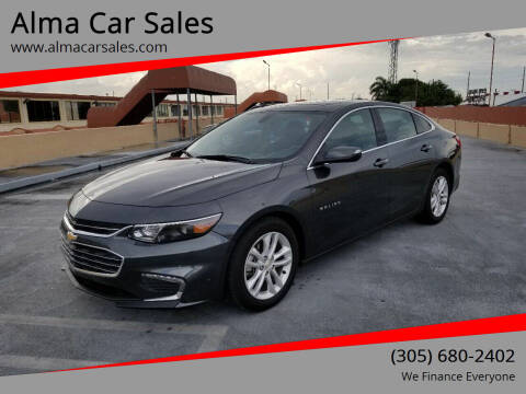 2018 Chevrolet Malibu for sale at Alma Car Sales in Miami FL