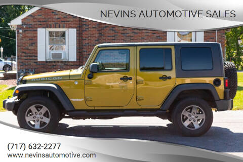 2008 Jeep Wrangler Unlimited for sale at Nevins Automotive Sales in Hanover PA