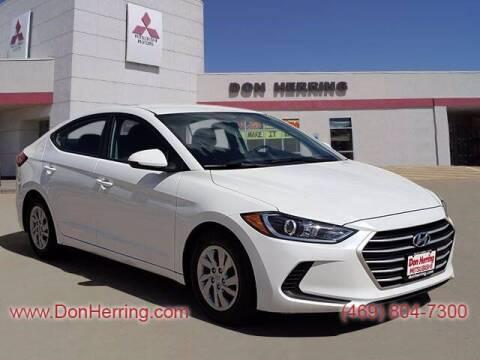 2018 Hyundai Elantra for sale at DON HERRING MITSUBISHI in Irving TX