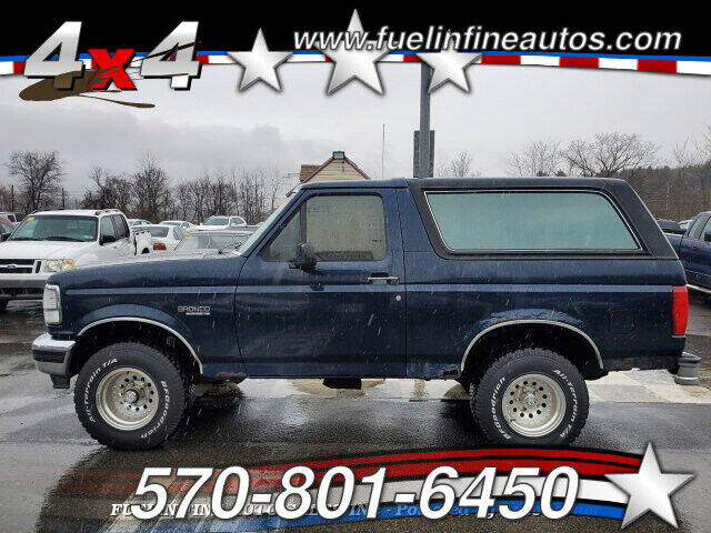 1993 Ford Bronco for sale at FUELIN FINE AUTO SALES INC in Saylorsburg PA