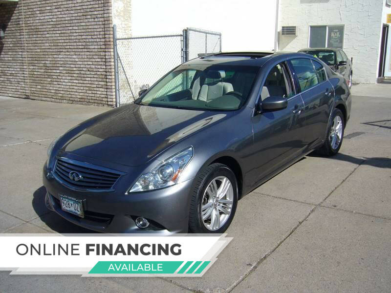 2011 Infiniti G25 Sedan for sale at K & L Auto Sales in Saint Paul MN