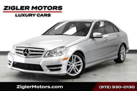 2013 Mercedes-Benz C-Class for sale at Zigler Motors in Addison TX