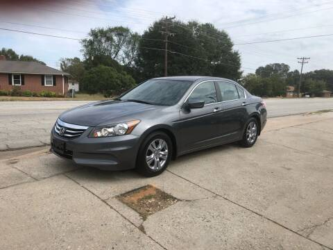 2012 Honda Accord for sale at E Motors LLC in Anderson SC