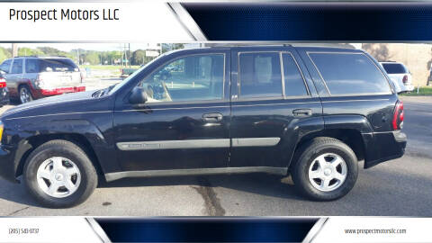 2003 Chevrolet TrailBlazer for sale at Prospect Motors LLC in Adamsville AL