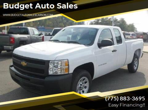 2011 Chevrolet Silverado 1500 for sale at Budget Auto Sales in Carson City NV