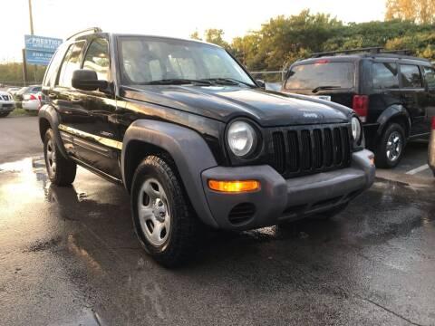 2004 Jeep Liberty for sale at Prestige Auto Sales Inc. in Nashville TN