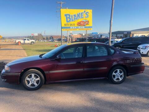 2003 Chevrolet Impala for sale at Blakes Auto Sales in Rice Lake WI