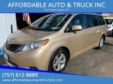 2014 Toyota Sienna for sale at AFFORDABLE AUTO & TRUCK INC in Virginia Beach VA