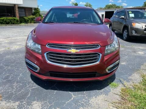 2015 Chevrolet Cruze for sale at Washington Motor Company in Washington NC