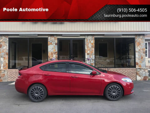 2013 Dodge Dart for sale at Poole Automotive in Laurinburg NC