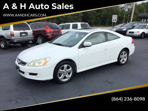 2006 Honda Accord for sale at A & H Auto Sales in Greenville SC