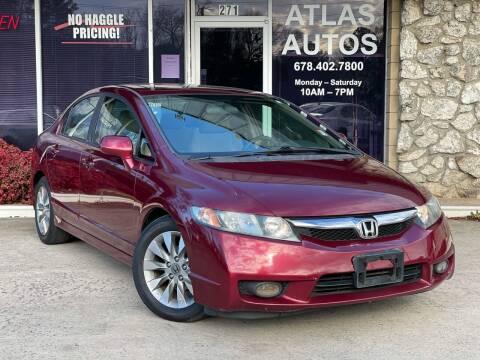 2011 Honda Civic for sale at ATLAS AUTOS in Marietta GA