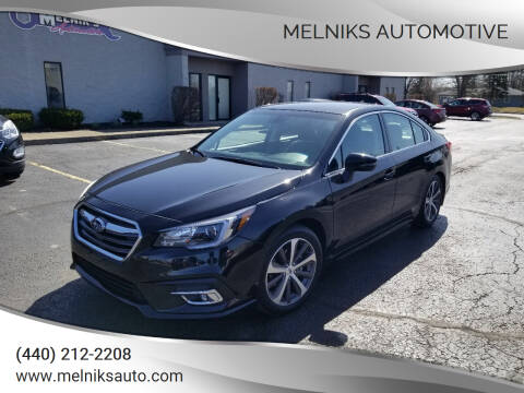 2019 Subaru Legacy for sale at Melniks Automotive in Berea OH