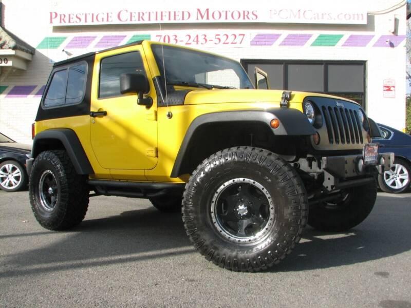 2011 Jeep Wrangler for sale at Prestige Certified Motors in Falls Church VA