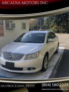 2012 Buick LaCrosse for sale at ARCADIA MOTORS INC in Heathsville VA