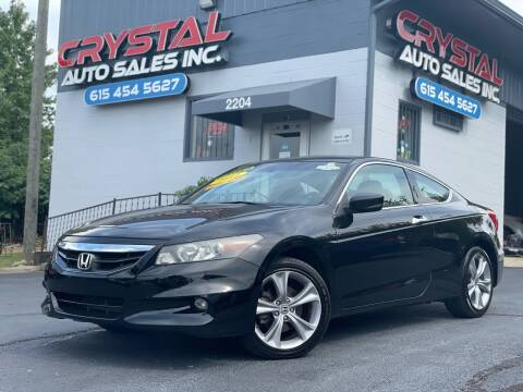 2012 Honda Accord for sale at Crystal Auto Sales Inc in Nashville TN