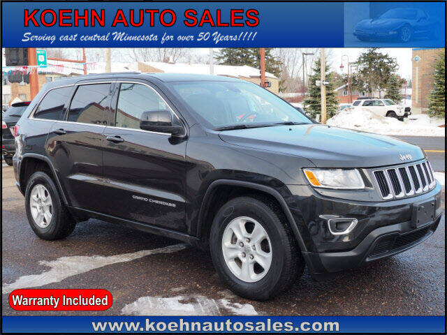 2015 Jeep Grand Cherokee for sale at Koehn Auto Sales in Lindstrom MN