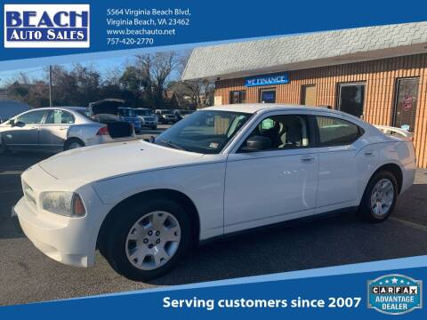 2007 Dodge Charger for sale at Beach Auto Sales in Virginia Beach VA