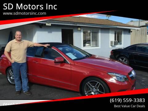 2015 Mercedes-Benz E-Class for sale at SD Motors Inc in La Mesa CA