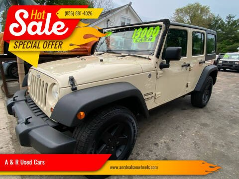 2011 Jeep Wrangler Unlimited for sale at A & R Used Cars in Clayton NJ