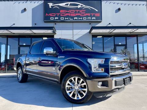 2016 Ford F-150 for sale at Exotic Motorsports of Oklahoma in Edmond OK
