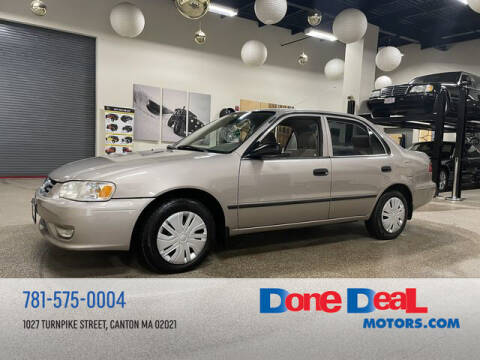 2001 Toyota Corolla for sale at DONE DEAL MOTORS in Canton MA