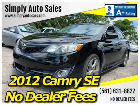 2012 Toyota Camry for sale at Simply Auto Sales in Palm Beach Gardens FL