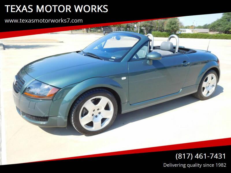 2001 Audi TT for sale at TEXAS MOTOR WORKS in Arlington TX