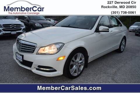 2012 Mercedes-Benz C-Class for sale at MemberCar in Rockville MD