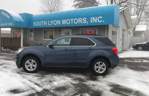 2012 Chevrolet Equinox for sale at South Lyon Motors INC in South Lyon MI