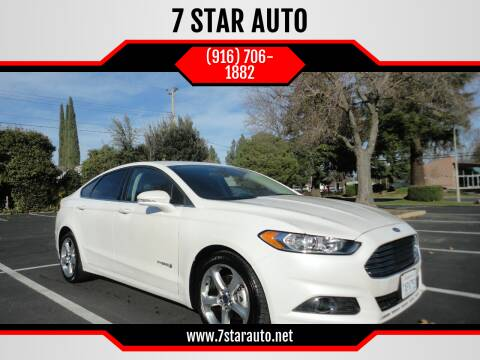 2013 Ford Fusion Hybrid for sale at 7 STAR AUTO in Sacramento CA