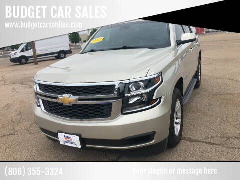 2017 Chevrolet Tahoe for sale at BUDGET CAR SALES in Amarillo TX